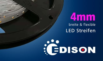 4mm wide and flexible LED strips from Edison