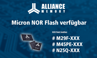 Micron NOR Flash memory chips available from Alliance Memory