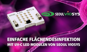 Surface disinfection made easy with UV-C LED module from Seoul Viosys
