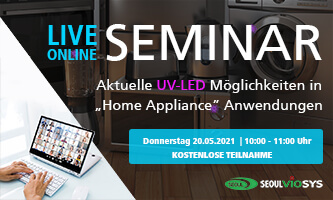 "Online seminar: Current UV LED possibilities in ""Home Appliance"" applications"