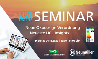 Live-Online-Seminar: New Ecodesign Regulation and latest HCL-Insights
