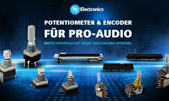 Potentiometer and encoder for professional audio technology