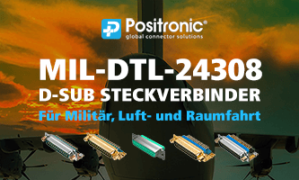 MIL-DTL-24308 D-Sub connectors for military, aerospace and defense applications