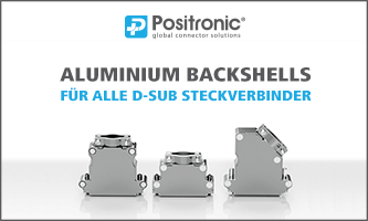 NEW from Positronic - Lightweight Aluminium Backshells