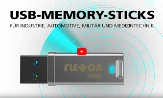 USB memory sticks for industry, automotive, military and medical technology