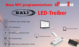 New NFC programmable DALI-2 LED drivers
