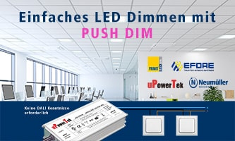 Simple LED dimming with Push-Dim