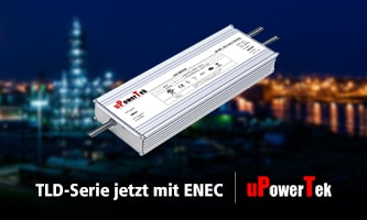 uPowerTek LED Power Supplies: TLD series now with ENEC