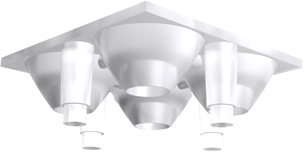 NMO-10612: Z5-Quad-Optik square Frosted Medium Beam 26° von Carclo Optic