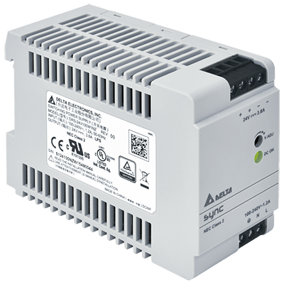 DRS-24V100W1NZ: – Ultra compact size – Universal AC input voltage and full power up to 55°C – High Efficiency 88.0% typ. @ 230Vac – NEC Class 2 / Limited Power Source (LPS) certified – Overvoltage / Overcurrent / Over Temperature Protections – Meet Surge Immunity IEC 61000-4-5, Level 4 (CM: 4kV, DM: 2kV) von Delta Electronics