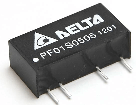 PF01S: Isolierter DC/DC 1W, SIP-Package, High Isolation von Delta Electronics