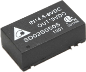 SD02D: Isolierter DC/DC 2W, SMD-Package von Delta Electronics